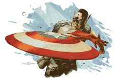 Captain America painting by *mbreitweiser on deviantART