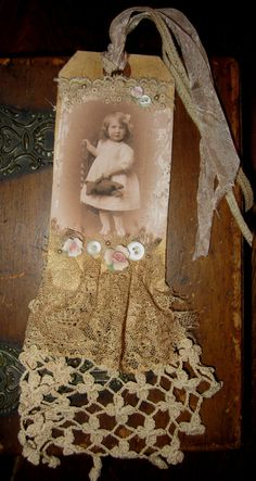 Vintage Lace Collage Sweet Girl with her by sweetinspirations, $19.99