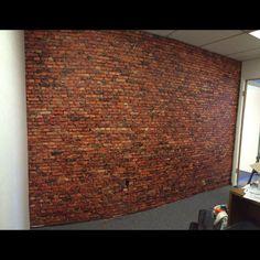 A brick wall printed on CanvasTac #Wallcovering #WallMural