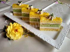 Citromos mentás pudingos szelet Izu, Vanilla Cake, Cheesecake, Treats, Cooking, Sweet, Food, Cook Books, Anna