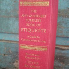 Vintage Red Book of Etiquette Amy by turquoiserollerset on Etsy, $7.00