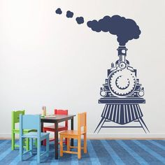 Train Rooms Big Boy Train Bedroom Thomas Train Wall Thomas Train Vinyl Wall  Stickers Kids Rooms Girls Boy Home Decor | Home Design | Pinterest | Train  Room, ...