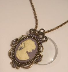 Hey, I found this really awesome Etsy listing at https://www.etsy.com/listing/118391573/magnifying-glass-antiqued-bronze-cameo