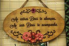 Placa de porta - ScrapDecor - Recortes AMJ  Visite nossa loja virtual: www.artemadeirajoinville.com.br