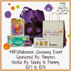 """Babies""""R""""Us Event #BRUHalloween #Giveaway - Prize Pack Includes: Pampers wipes $75 gift card to Babies """"R"""" Us 1 Year subscription to Highlights magazine 1 Highlights book A Halloween trick-or-treat tote bag"""