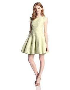 $475.00 HALSTON HERITAGE Women's Silk Faille Cap-Sleeve Structured Cocktail Dress • Shopping Cheap Online