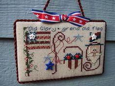 Finished Completed Shepherds Bush Flag Patriotic Cross Stitch Ornament   eBay
