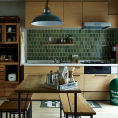 """仕事や家事に忙しい女性目線の""""心地よい暮らし""""を提案する「UR COCOCHI」のリノベーション住宅と〈niko and ...〉がコラボレート。全3回に渡って、住空間の魅力を... Kitchen Tile, Open Kitchen, Kitchen Dining, Kitchen Decor, Updated Kitchen, Tile Design, Kitchen Interior, Home Kitchens, Kitchen Remodel"""