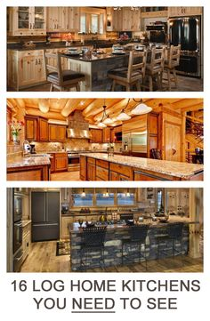 16 Amazing Log House Kitchens You Have to See