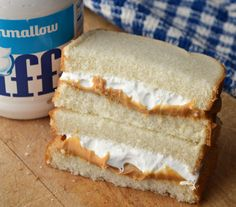 Fluffernutter | History of a Favorite New England Sandwich. ... one of my fave sandwiches from childhhod, practically a staple in most New England homes ... And it has to be this particular kind / brand, too.  Yum!!!!!!