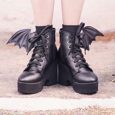 Winged Platform Booties