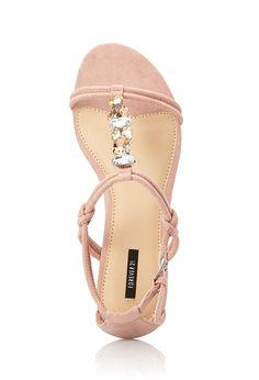 Bejeweled T-Strap Sandals | FOREVER21 - 2000072184