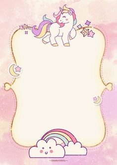 Unicorn invitation is being hit right now! If you want to celebrate your dotter, or your invitation using Unicorn Birthday Invitations, Unicorn Birthday Parties, Baby Shower Invitations, Diy Birthday, Princess Invitations, Birthday Design, Free Invitation Templates, Templates Free, Design Templates