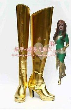NEW 5 X-MEN Jean Grey Marvel girl phoenix cosplay shoes boots Custom Made | eBay
