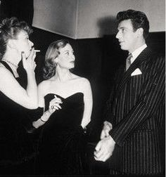 Edwige Feuillère, Michèle Morgan et Yves Montand