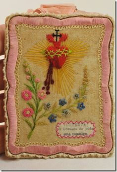 so beautiful a message... the sacred heart of Jesus....and the needlework is so special........... catholic, detente | The Saints Go Marching In My Dreams