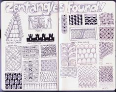 BEEZ in the Belfry: Tangle of the Week - Journal Page