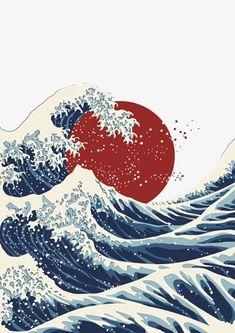 29 Sóng Biển ý Tưởng Trong 2021 Mỹ Thuật Nghệ Thuật Thiết Kế đồ Họa Nhật