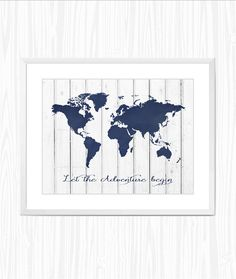 Let the adventure begin Marine world map print от Anchor Bathroom, And So The Adventure Begins, Printable Art, Nautical, Places To Go, Digital Art, Inspirational Quotes, Wall Decor, Let It Be