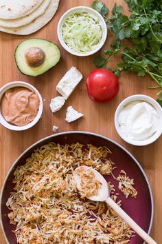 Set up your own hashbrown taco bar with crispy hash browns, chipotle spiced refried beans, and all the tasty toppings! Perfect for dinner with the family.