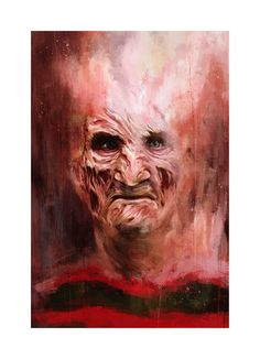 Artist Reimagines Freddy Krueger as Expressionist Paintings - Popcorn Horror Graphic Prints, Art Prints, Dragon Print, Horror Icons, Movie Wallpapers, Nightmare On Elm Street, Freddy Krueger, Character Portraits, Horror Movies