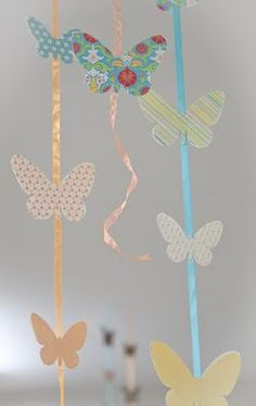 A butterfly themed bridal shower.