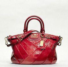 Red Coach Handbag