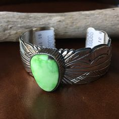 Navajo Sterling Natural Cairo Lake Turquoise Cuff Bracelet