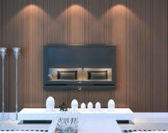 Moderná textilná reliéfna tapeta na stenu v hnedej farbe Bathroom Lighting, Flat Screen, Mirror, Furniture, Home Decor, Bathroom Light Fittings, Blood Plasma, Bathroom Vanity Lighting, Decoration Home