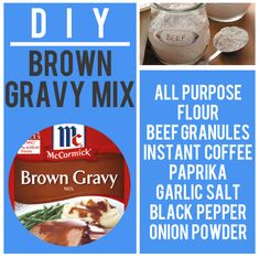 Brown Gravy Mix   15 Boxed Food Mixes You Never Have To Buy Again
