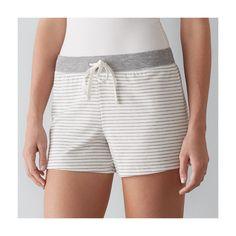 Women's SONOMA Goods for Life™ Pajamas: French Terry Pajama Shorts, Size: Medium, White