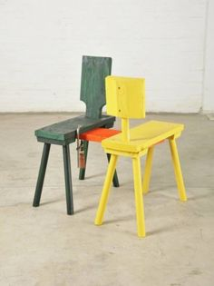 ATELIER   VAN LIESHOUT  Kissing Chair, 2012  79 x 71 x 53 cm  wood, spraypaint