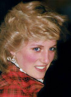 January 29, 1985 Princess Diana visits Bridgend in Wales