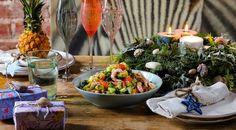 Salad with shrimps and mint sauce | My favorite recipes. #shrimps Fish Recipes, Seafood Recipes, Salad Recipes, Seafood Dishes, Fish And Seafood, Pineapple Syrup, Mint Sauce, Shrimp Salad, Ripe Avocado