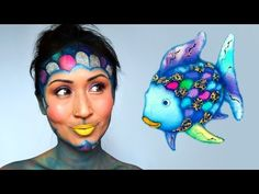 Rainbow Fish Makeup Tutorial – ShelingBeauty … Regenbogenfisch Make-up Tutorial – ShelingBeauty Mehr Fish Costume Kids, Rainbow Fish Costume, Diy Halloween Face Paint, Halloween Makeup, Halloween Costumes, Halloween Stuff, Halloween Halloween, Vintage Halloween, Book Day Costumes