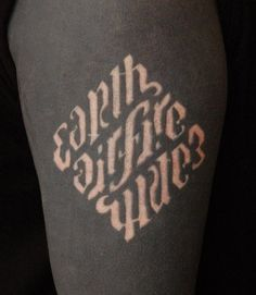 typography + scarification