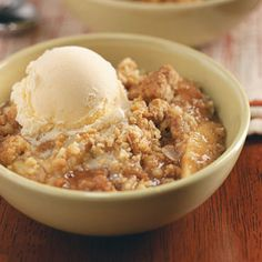 Oat Apple Crisp. Comments say use less sugar