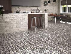 Duomo Centro Black Floor Tile