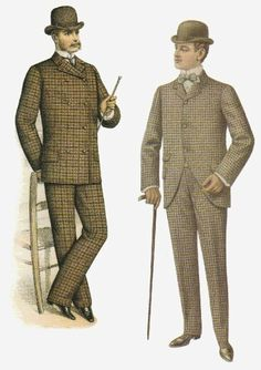 Height of fashion for 1880's, but I bet we'd never catch anyone wearing plaid now days!