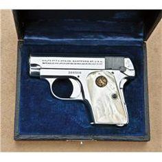 25 automatic pistol | Colt model 1908 .25 caliber semi-automatic pistol, factory nickel ...