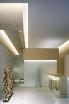 Asta Aveda Salon, Tokyo by Curiosity Designers Shop Interior Design, Retail Design, Store Design, Interior Decorating, House Design, Design Shop, Cove Lighting, Linear Lighting, Lighting Design