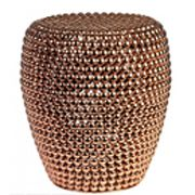 Bring unique style to your living space with this striking Dot Stool from Pols P. - Copper Interior Inspiration - Can Epoxy City Living, Living Spaces, Copper Bedroom, Copper Interior, Metal Stool, Ottoman In Living Room, Table Furniture, Decor Interior Design, Accent Pieces