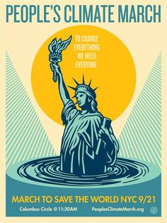 by Shepard Fairey / Obey - People's Climate March - Sept 2014