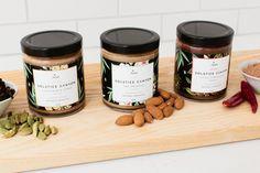 Solstice Canyon Almond Butter — The Dieline - Branding & Packaging Jar Packaging, Food Packaging Design, Beverage Packaging, Packaging Design Inspiration, Brand Packaging, Packaging Snack, Branding Design, Product Packaging, Packaging Ideas