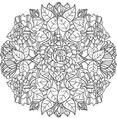 Creative Haven Wondrous Nature Mandalas: A Coloring Book with a Hidden Picture Twist Welcome to Dover Publications Pattern Coloring Pages, Free Adult Coloring Pages, Cute Coloring Pages, Flower Coloring Pages, Mandala Coloring Pages, Coloring Books, Coloring Sheets, Fairy Coloring, Kids Coloring