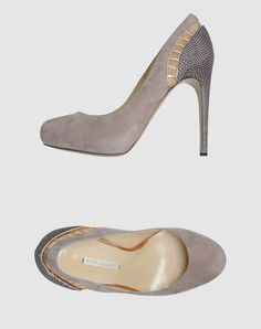 Nicholas Kirkwood: Platform Pumps with Snakeskin Print, Perforated Fabric, Leather, and Suede.