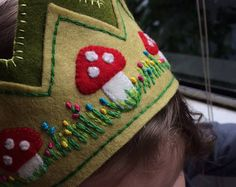 Forest Prince/Princess Crown, Fairy Crown, Waldorf Birthday Boy or Girl Crown