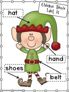 Christmas Friends Label Activities in my Rockin' Around The Christmas Tree Math and Literacy Centers Pack $