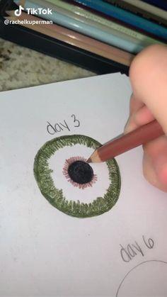 Art Drawings For Kids, Art Drawings Sketches Simple, Pencil Art Drawings, Colorful Drawings, Watercolor Art Face, Scary Art, Bullet Journal Art, Color Pencil Art, Eye Art