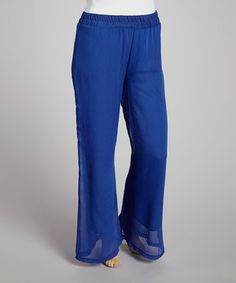 Love this Royal Blue Palazzo Pants - Plus by Freshmint on #zulily! #zulilyfinds